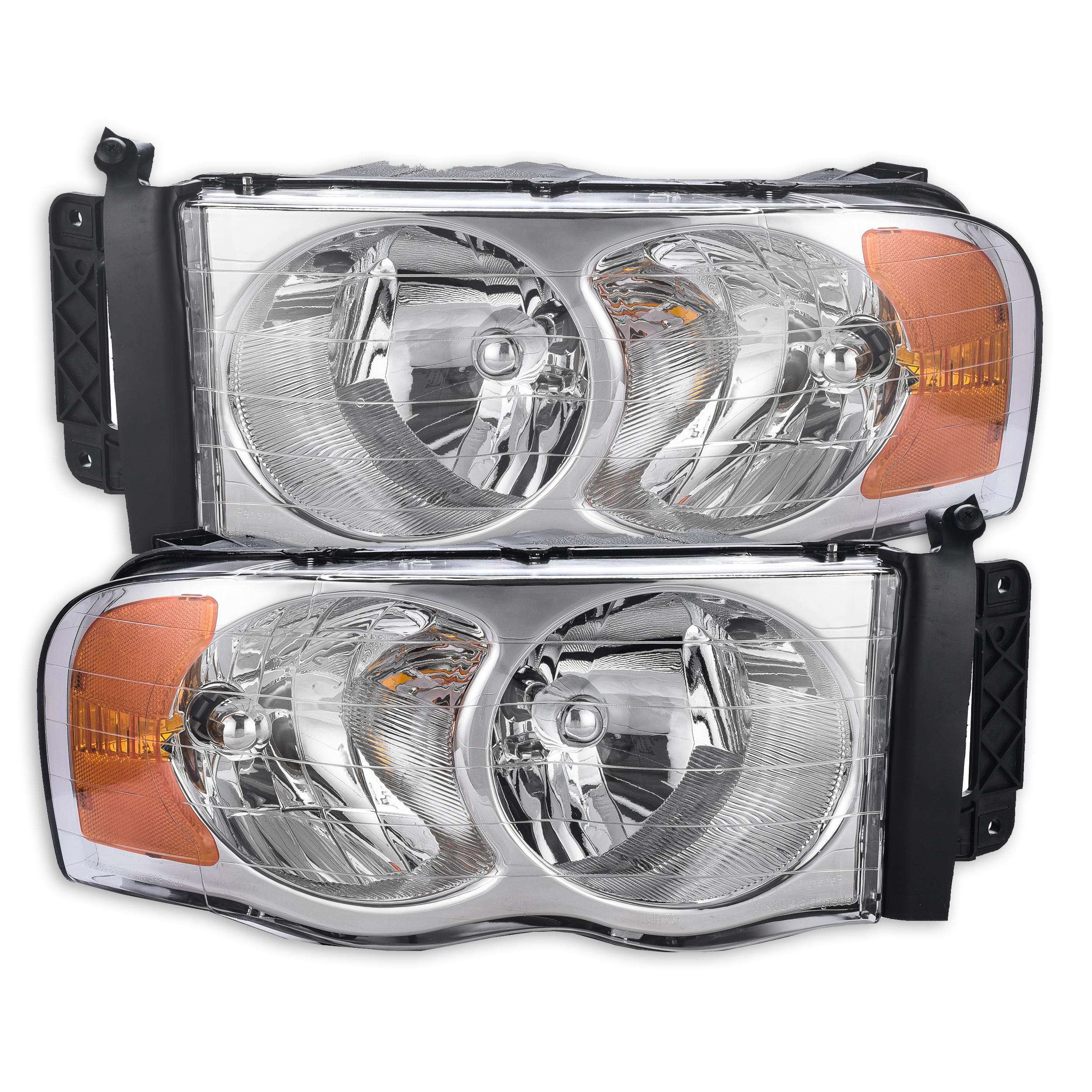 Fits 2002-2005 Dodge Ram 1500 Driver and Passenger Side Headlamp Assembly